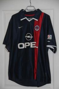 Maillot domicile 01-02 (collection MaillotsPSG)