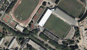 Vue aérienne du stade Yves-Allainmat, dit du Moustoir