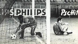 François M'Pelé joue les ramasseur de balle après que Mustapha Dahleb ait trompé le futur parisien Bernard