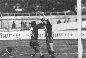 La joie d'Hervé Porquet après le but décisif, inscrit à 5 minutes du terme de la rencontre