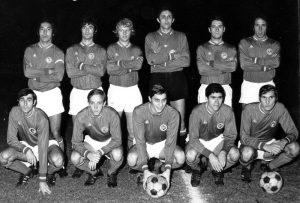L'équipe parisienne: Djorkaeff, Rostagni, Solas, Choquier, Bereau, Leonetti, Arribas, Brost, Prost, Guignedoux, Hallet (archives MK)