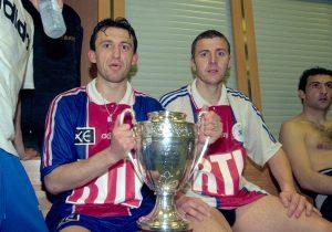 Franck Gava et Florian Maurice savourent la victoire dans les vestiaires