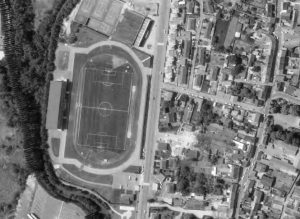 Vue aérienne du stade Marcel Coene