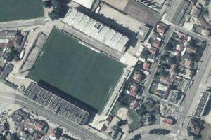Vue aérienne du stade Robert-Diochon