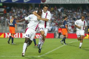 La joie de Reinaldo et Pauleta après le but du premier nommé
