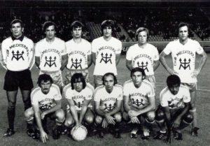 Les bastiais avant le coup d'envoi (Corse Football)