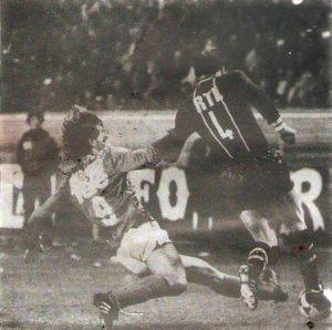 Thierry Morin au duel avec Roussey