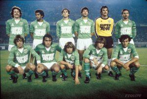 L'équipe de l'AS Saint-Etienne avant le coup d'envoi
