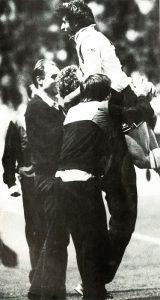 La joie du Susic après son but qui permet au PSG de passer devant