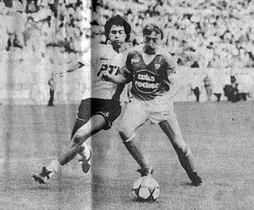 Omar Da Fonseca à la lutte avec le stéphanois Gilles