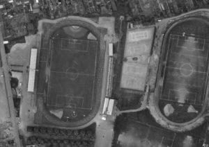 Vue aérienne du stade Léon-Bollée