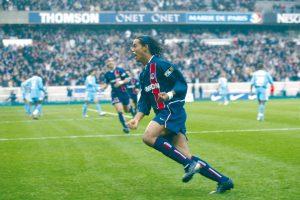 La joie de celui qui aura marqué les supporters parisiens sur ce match