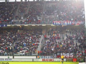 Le parcage parisien avant le match (Ch. Gavelle)
