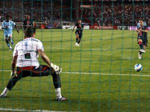 Le penalty transformé par Pedro Pauleta