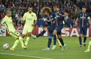 L'ouverture du score de David Luiz!