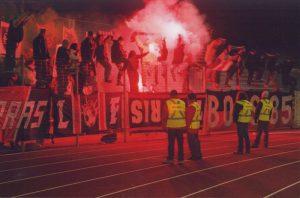 Les supporters parisiens ayant fait le déplacement à Niort