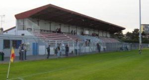 La tribune du stade Alberto Corazza