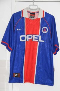 Maillot domicile 1996-97, version Europe (collection MaillotsPSG)