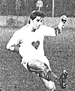 Maillot alternatif 1971-72, arborant un curieux coeur en son milieu