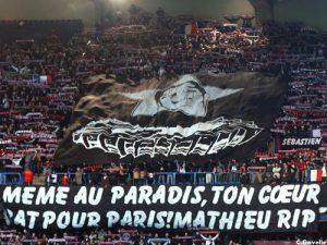L'hommage du Kop de Boulogne à Mathieu (Ch. Gavelle)