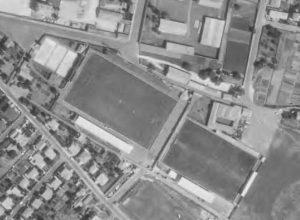 Vue aérienne du stade Camille-Lebon