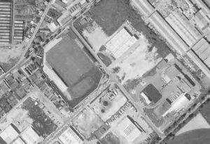 Vue aérienne du stade Maurice-Thoumyre