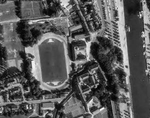 Vue aérienne du stade de la Rabine