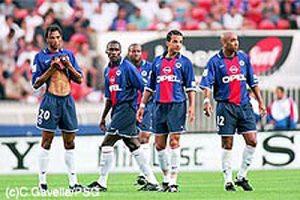 Edouard et Aliou Cissé, Godwin Okpara, Peter Luccin et Stéphane Dalmat (Ch. Gavelle)
