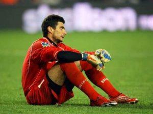 La déception de Le Crom après le match : Troyes est relégué en Ligue 2