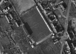 Vue aérienne du stade Aimable-Lozai