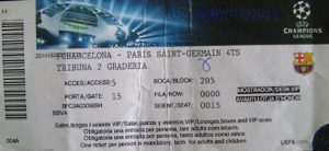 (collection PSGFootTickets)