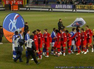Les deux équipes avant le match (racingstub.com)