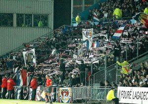 Les supporters parisiens présents à Deschaseaux (M. Grancher)