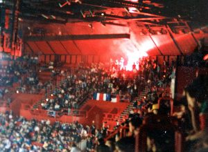 Des membres du Kop de Boulogne lors d'une des deux soirées à Bercy