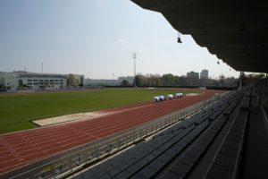Vue prise depuis la tribune du stade Auguste-Delaune
