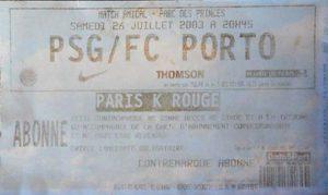 (collection Tickets Paris-SG)