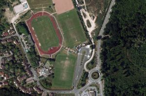 Vue aérienne du stade Léo-Lagrange