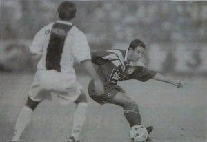 Patrick Colleter face à Alicarte (photo G. Baldocchi, source : Corse Football)
