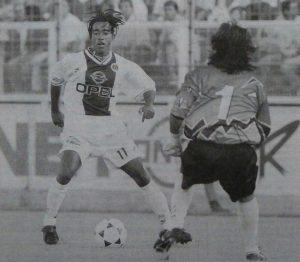 Patrice Loko face à Valencony (photo G. Baldocchi, source : Corse Football)