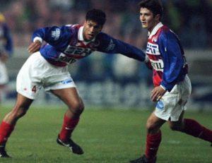 Bixente Lizarazu et Marcio Santos, deux Bordelais sous le maillot parisien