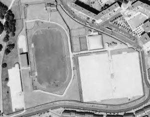 Vue aérienne du Stade Pierre-de-Coubertin