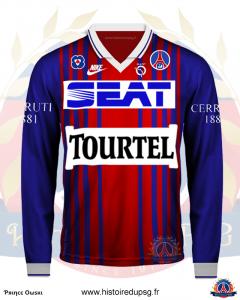 Maillot domicile hiver 1993 1994 Seat