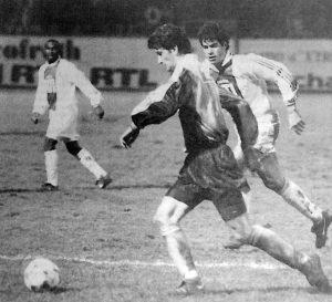 Duel entre Raï et De Luca (HAC Foot Archives)
