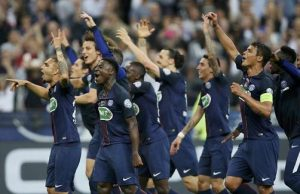 La joie des Parisiens après le match (photo L'Equipe)