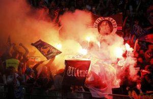 Les Ultras parisiens au Stade de France (photo L'Equipe)
