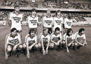 Les Brestois avant le coup d'envoi (Vintage Football Club)