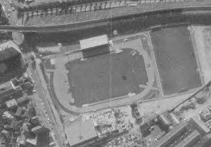 Vue aérienne du stade d'Issy