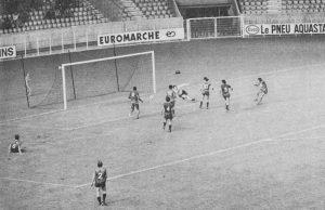 Le but de Redon pour Rennes en toute fin de match (archives Rouge Mémoire)