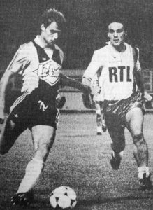Thierry Bacconnier à la poursuite de Jacquet (HAC Foot Archives)