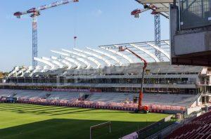 La nouvelle tribune Est, dont la partie basse aura été inaugurée pour ce match